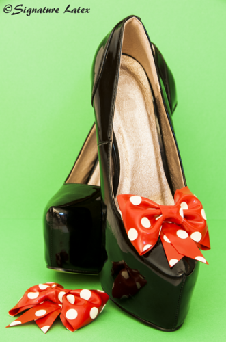Latex Polka dot Shoe bow's